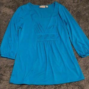 Blue Croft & barrow blouse